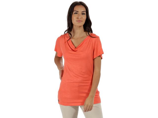 Regatta Francheska Camiseta manga corta Mujer, neon peach